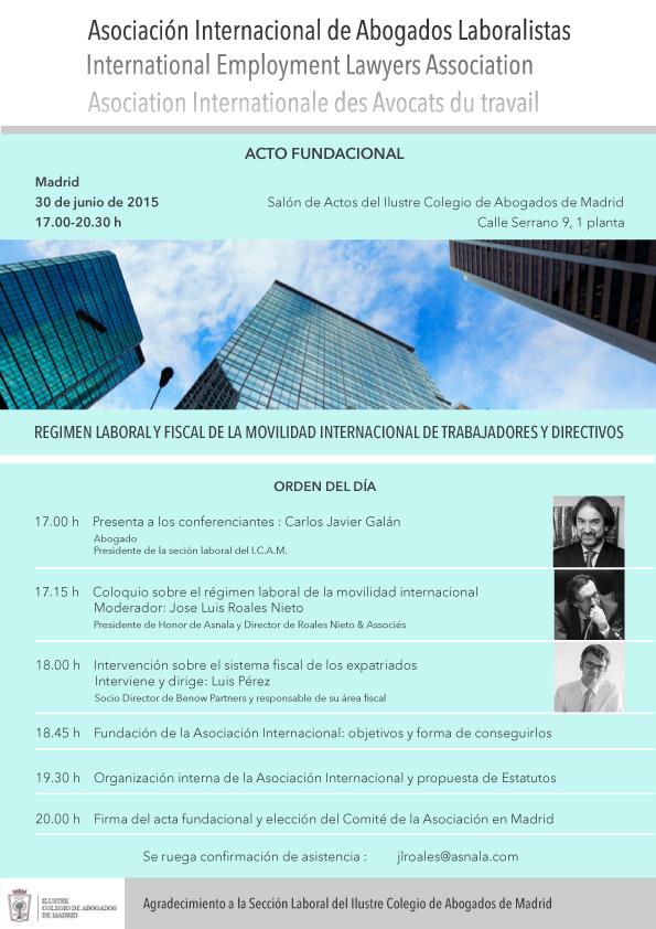 Presentación de Asociación Internacional de Abogados Laboralistas y jornada sobre trabajadores expatriados